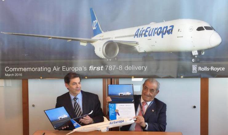 A Air Europa Conta Já Com O Primeiro Boeing 787 Dreamliner Na Sua Frota