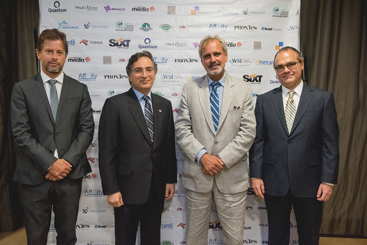 Bruno Cid, Randall Lama, Jorge Oliveira Exmo. Embajador De Porrugal Para RD, Salvador Da Cunha