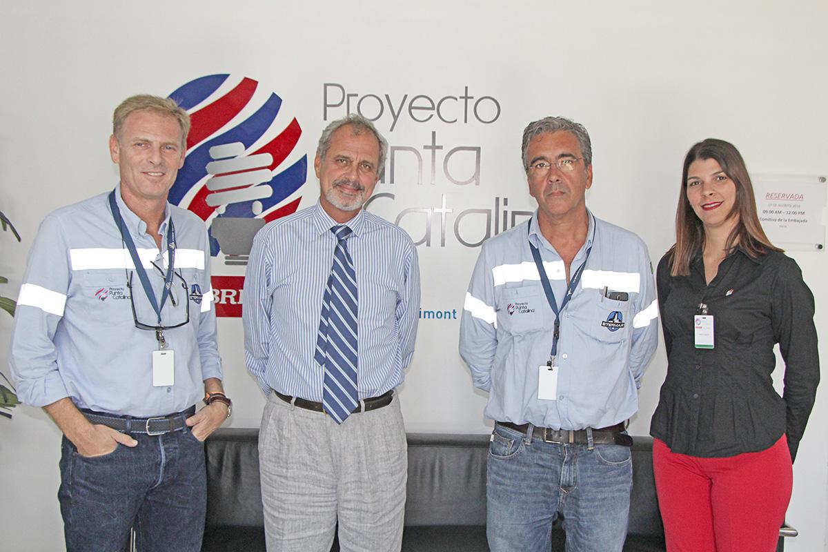 Rui Miguel Sampaio, Exmo. Embajador De Portugal Jorge Oliveira, Mario Pelicanno, Candice Cestero