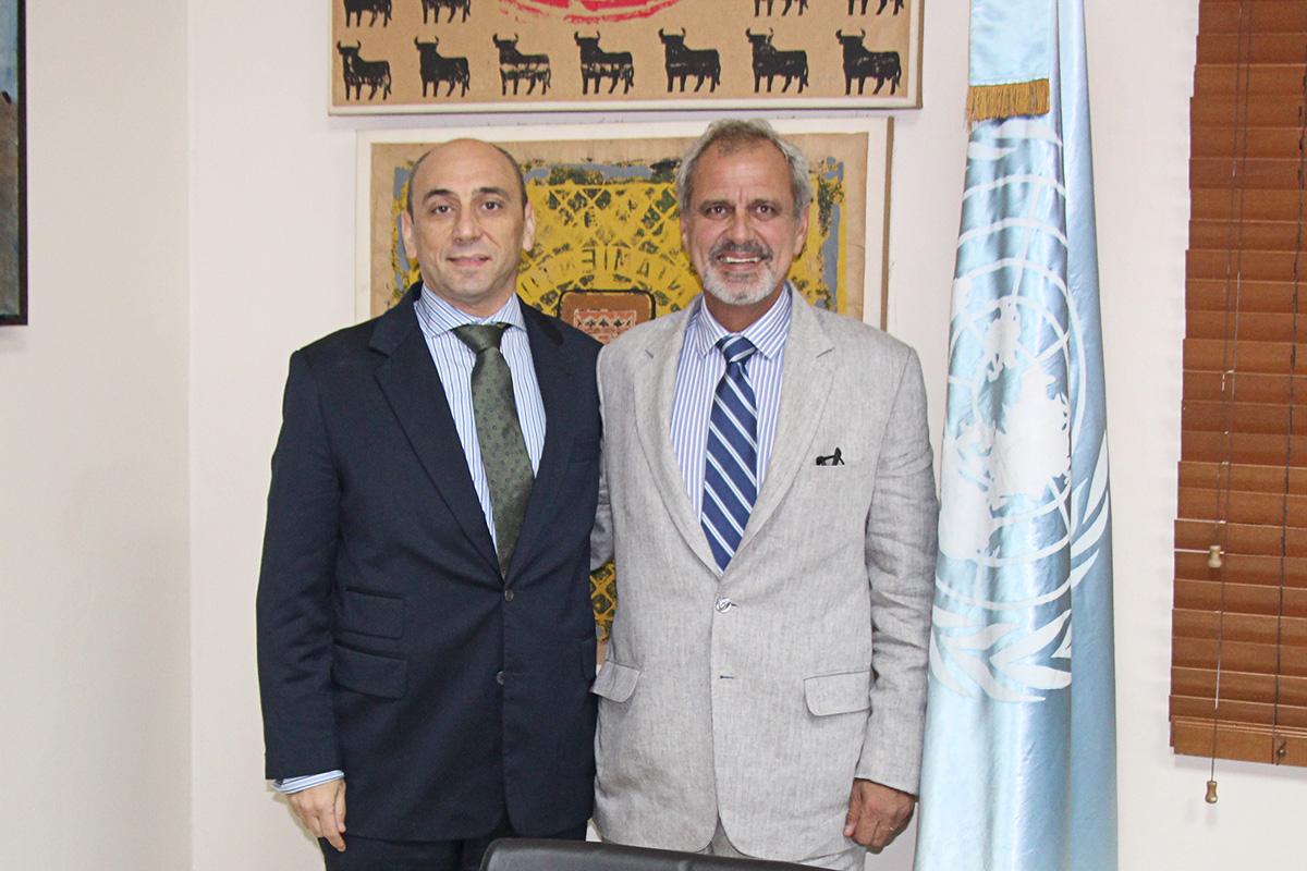 Sr. Lorenzo Jimenez Coordinador Residente De La ONU En RD, Exmo.Embajador De Portugal Sr. Jorge Oliveira,