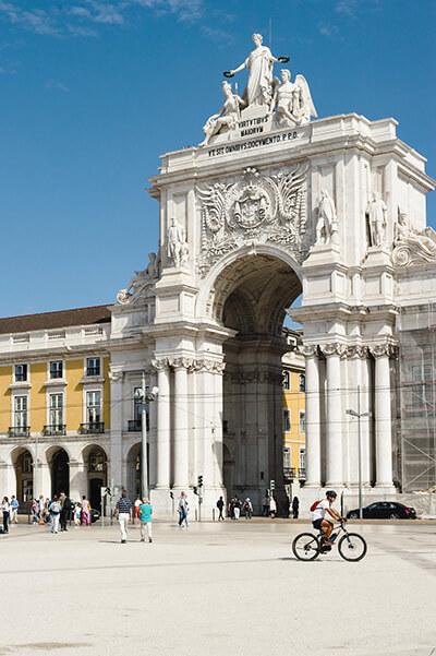 La Plaza del Comercio en Lisboa